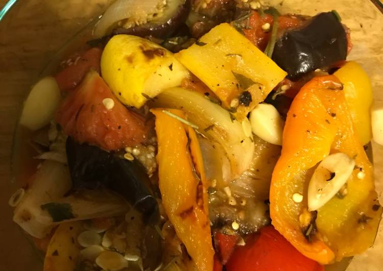Ratatouille with Oven Roasted Veggies