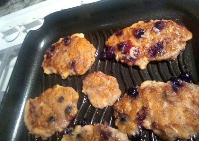 Blueberry Plantain Pancakes