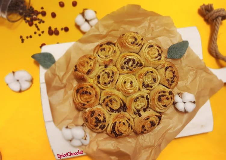 Brioche a la poire et chocolat