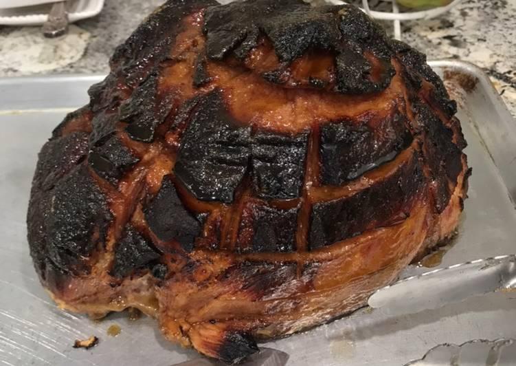 Grilled sugar ham