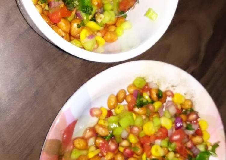 Peanut chatpata salad