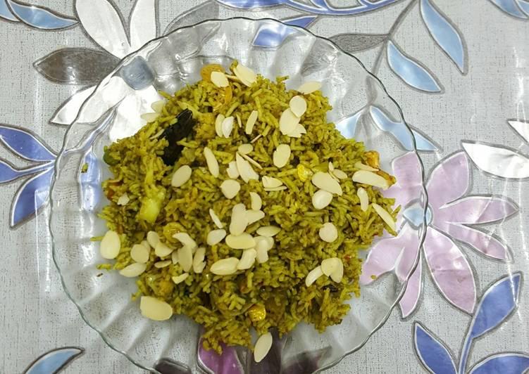 Palak biryani (spinach biryani dhara kitchen recipe)