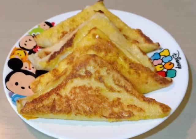 (Seri Roti) French Toast Banana Cheese (Bekal Sekolah Anak)