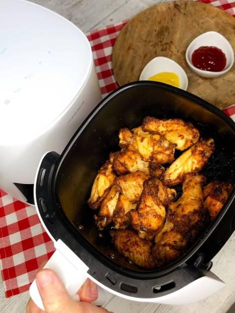 Receta de alitas de pollo en freidora de aire