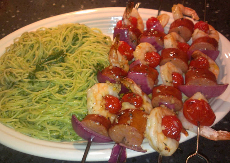How to Make Tasty Shrimp & Sausage Kabobs