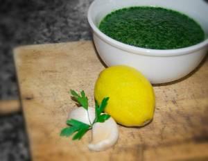 Salsa de ajo y perejil - Salsa verde