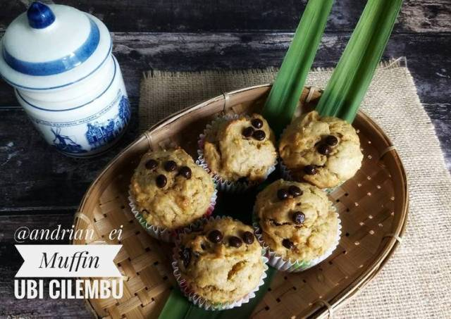 Muffin Ubi Cilembu Manis Legit Moist (Tanpa Mixer)