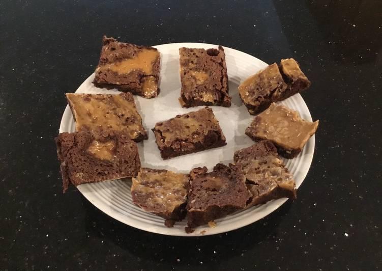 Caramel Dust Fudge Brownies