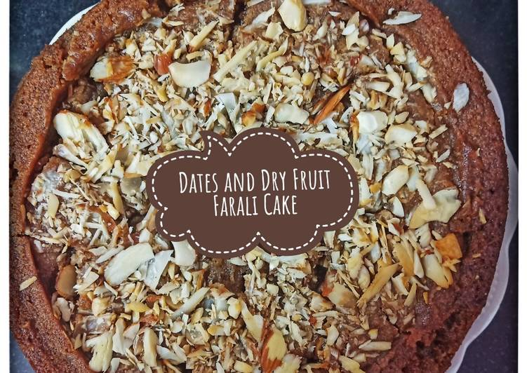 Dates and Dry Fruit Farali cake