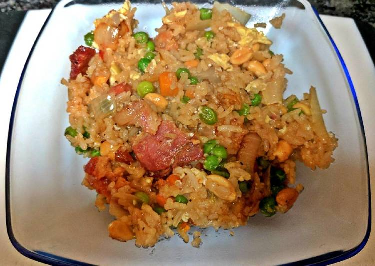 Easy one pan bacon fried rice