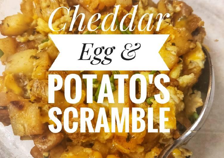 Cheddar Egg & Potato Scramble 🥔🧀🥚