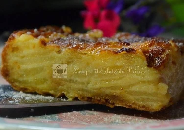 Gâteau moelleux invisible aux poires