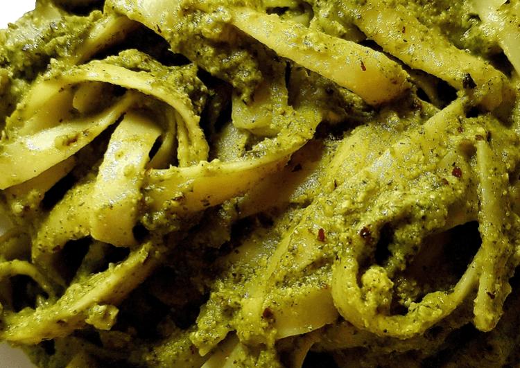 Hazelnut Parsley Pesto Spaghetti