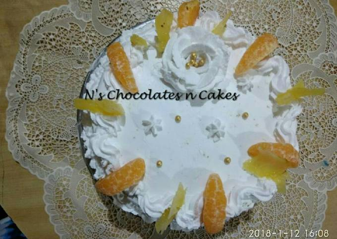 Healthy Wheat and Mixed Millet Pinaorange Cake