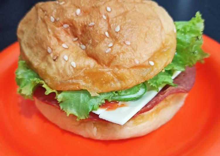 Beef sliced Burger