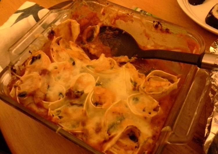 Rolled Lasagna (vegetarian)