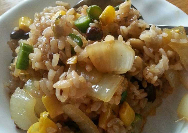 BBQ Jalapeno Stir Fried Rice (Vegetarian)