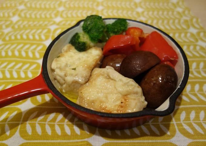 Tofu al ajillo (vegan)
