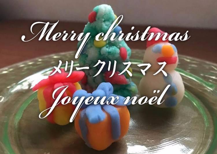 Nerikiri Wagashi pour Joyeux Noël
