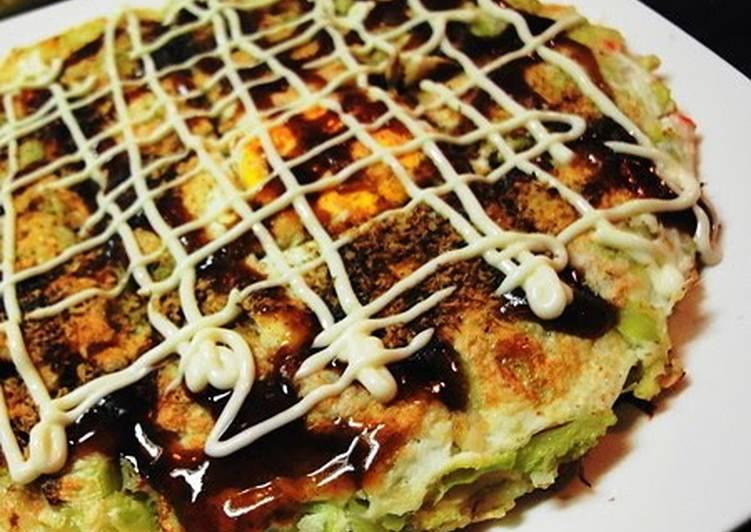 Okonomiyaki with Lots of Spring Cabbage