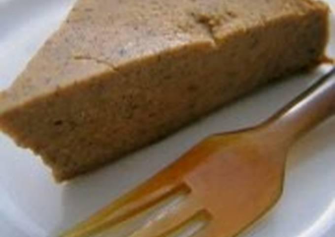 Diet Friendly Agar Cake with Tofu, Brown Sugar & Kinako