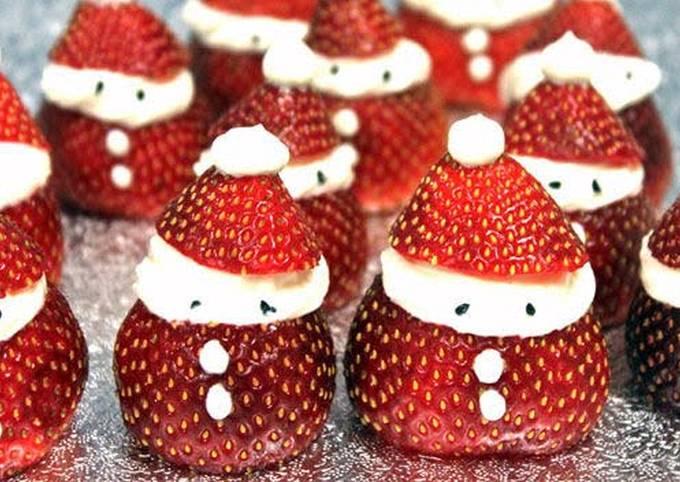 Vickys Strawberry Santas, GF DF EF SF NF