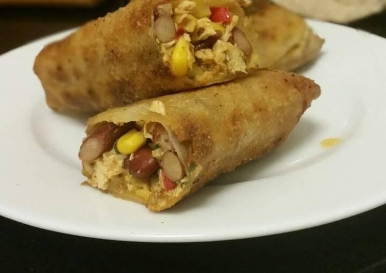 'Tex max' egg rolls