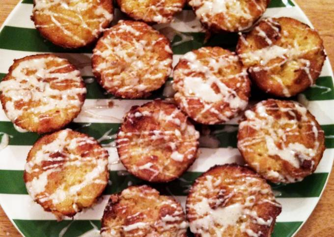 """Pineapple Stuffing """"Cupcakes""""with Cinnamon Buttercream Drizzle"""