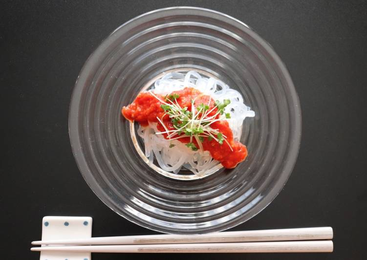 Gluten-free pasta with miso tomato sauce using zen pasta