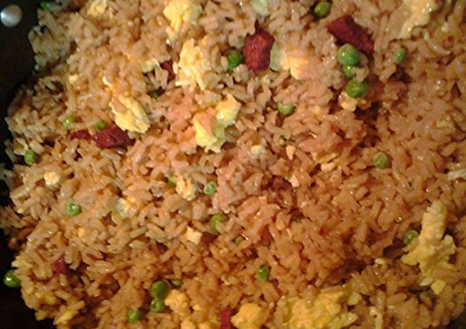 Faux roast pork fried rice