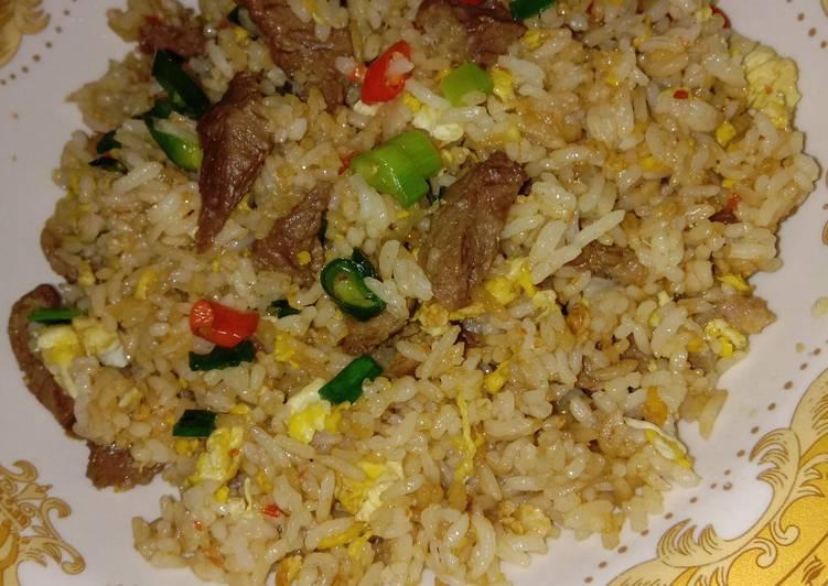 Nasi Goreng Daging Pedas