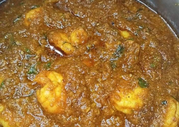 Caramote Prawns Masala Curry