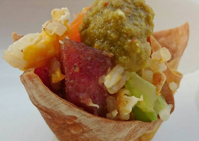 Wanton Tacos Cup Fried Rice Special
