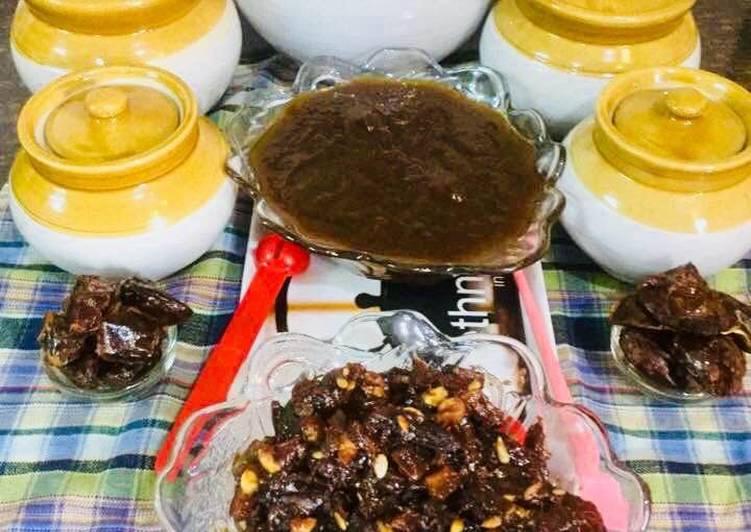 Dates Dry fruits Sweet Chutney &Dates Tamarind Chutney
