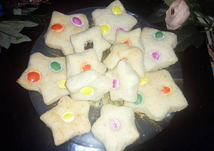 Smarties coconut cookies