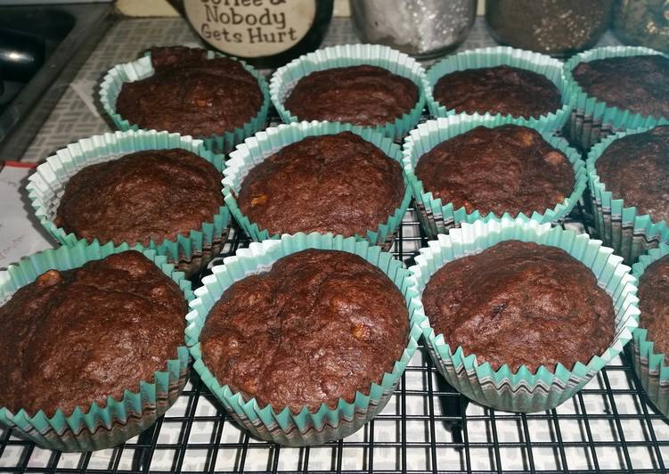 Choclate babana bread cupcakes