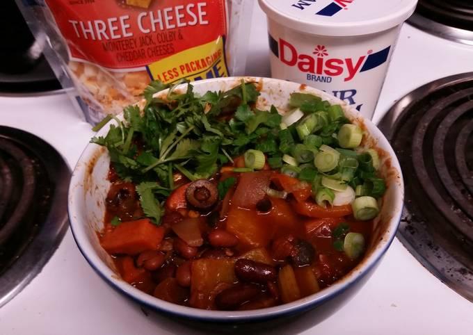 Vegetarian (Vegan) Five Bean Chunky Chili