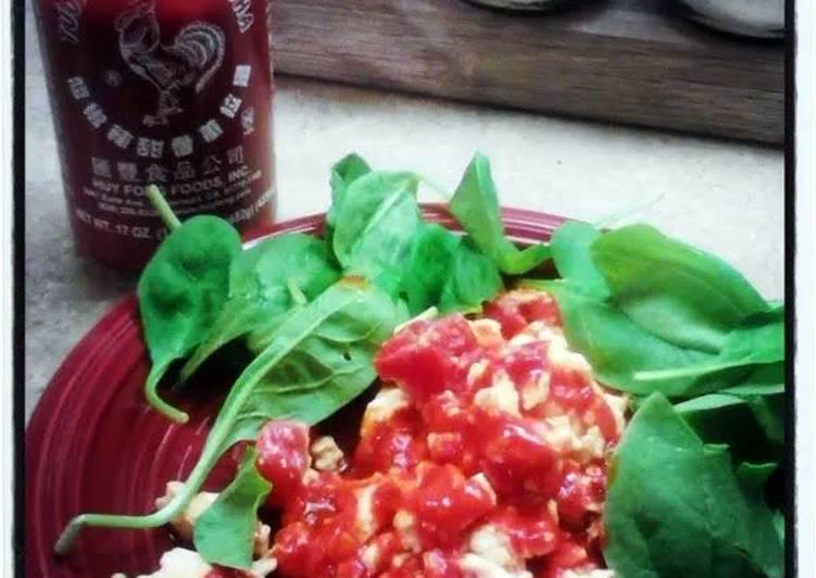 Spicy pepper scrambled eggs