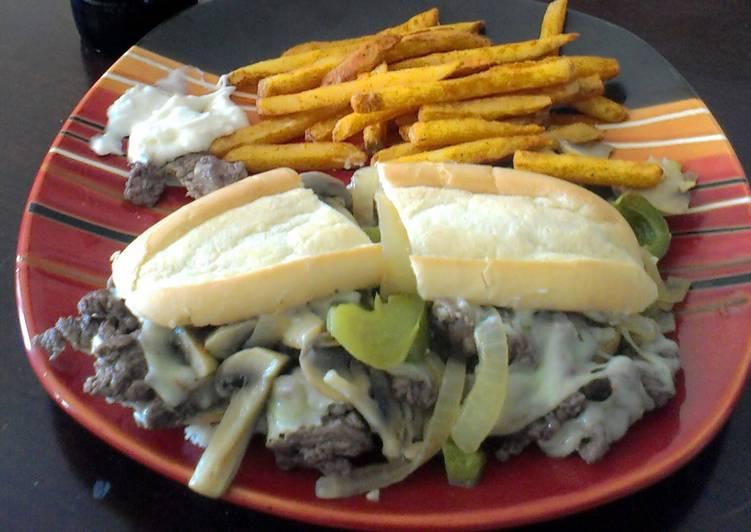 Philly Cheese steak w/ garlic horseradish mayo