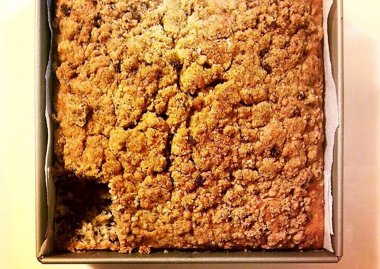 Moist Crumble Cake without Butter or Dairy
