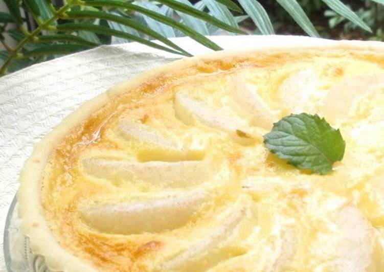 Asian Pear Yogurt Tart
