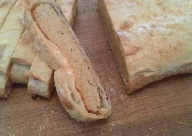 Buffalo Chicken Meatloaf Calzone