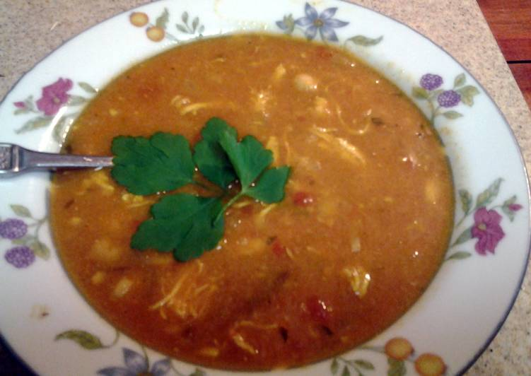 Morrocan chicken and chickpea soup