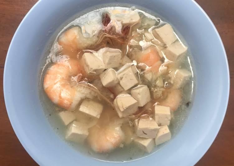 Makanan Anak Sup Udang & Tahu