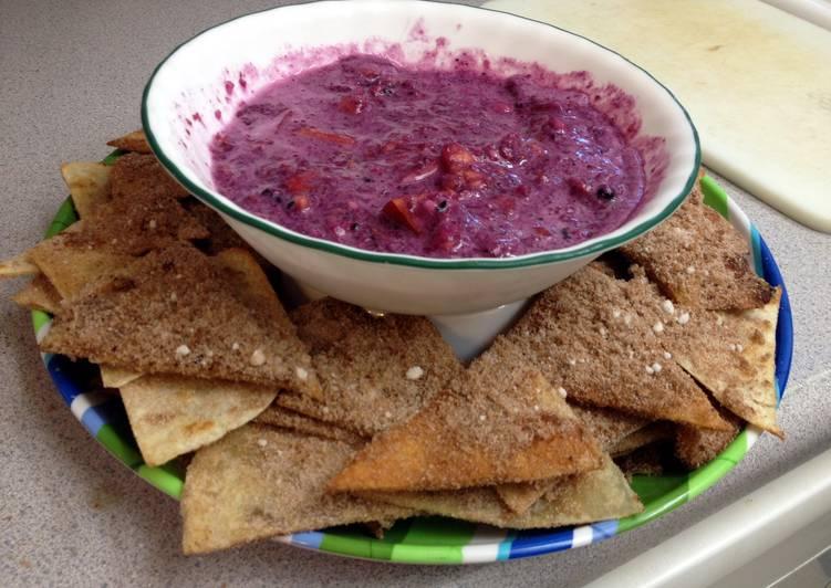 Fruit Salsa And Cinnomon Sugar Chips (gluten and dairy free)