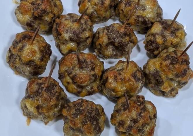 Keto Cheeseburger Meatballs