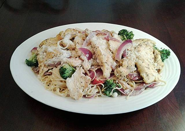 Chicken Scampi with Broccoli