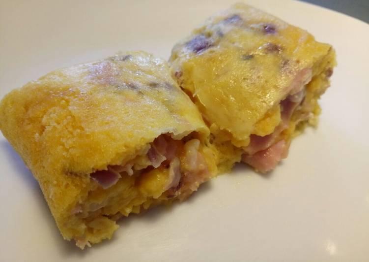 Easy Peasy cheesy crisps omelette