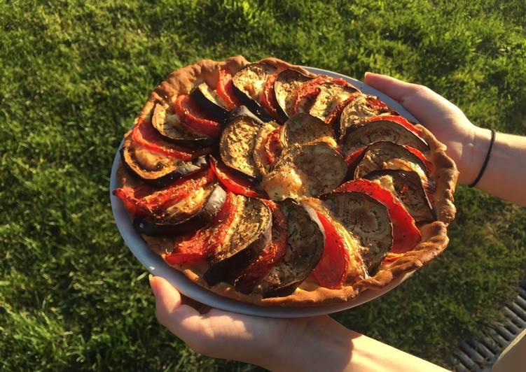 Pizza aux légumes d'été et chèvre