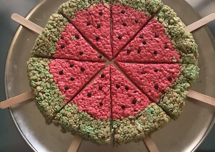 Watermelon Rice Krispies 🍉🍉🍉